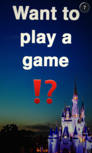 Snapchat screenshot of DisneyWorld