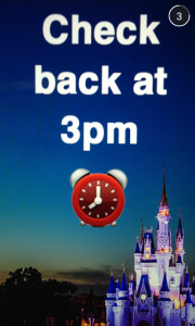 Screenshot of DisneyWorld Snapchat account