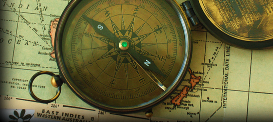 Compass and Map by Calsidyrose on Flickr